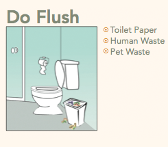 Do Flush: Toilet Paper, Human Waste, Pet Waste