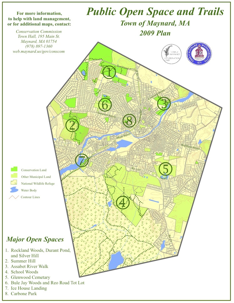 Open Space and Trails Map   Town of Maynard, Machusetts on