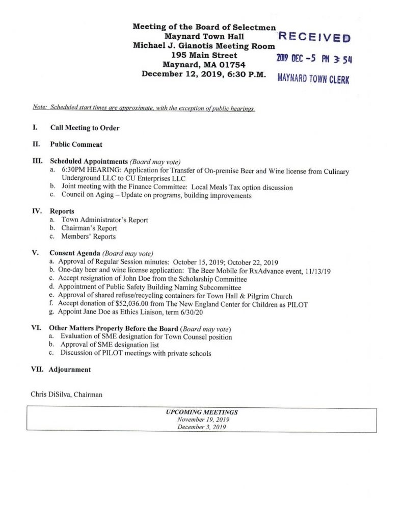 open meeting law guidelines  notice of meetings and room